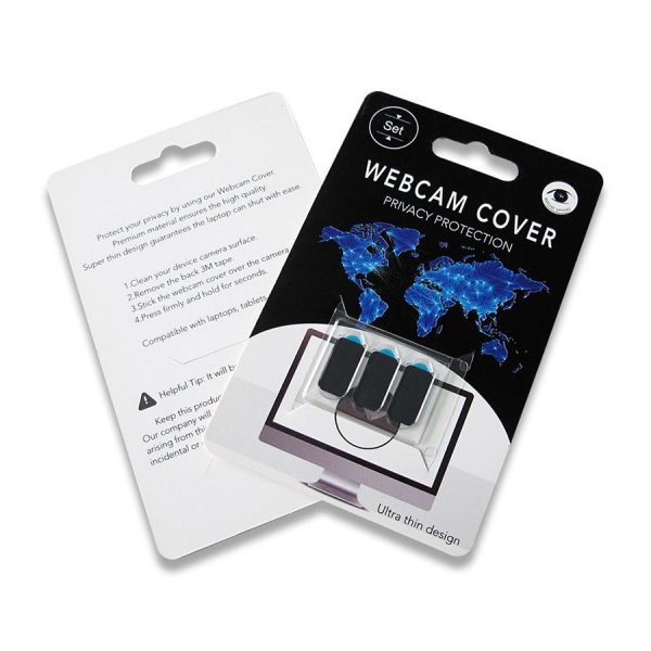 Κάλυμμα κάμερας SPPIP-001, universal, 3τμχ, μαύρο 2