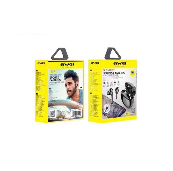 Ασύρματα ακουστικά με βάση φόρτισης – T15 – AWEI – Black Headset