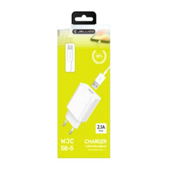 Φορτιστής JELLICO WJC-58 MICRO USB Fast Charger 2.1A με Καλώδιο MICRO USB
