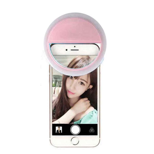 Selfie Ring Light 36 Led για φωτεινές φωτογραφίες (ρόζ)