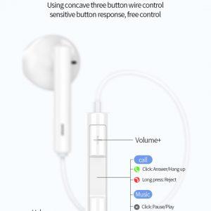 CELEBRAT earphones με μικρόφωνο G16, Type-C, 1.2m, μαύρα 3