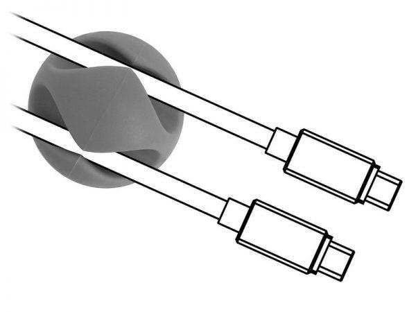 POWERTECH Οργανωτής καλωδίων σιλικόνης TIES-010, 2 καλωδίων, 6τμχ 1