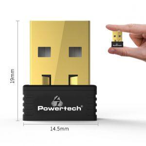 POWERTECH Wireless USB nano adapter, 150Mbps, 2.4GHz, MT7601 1