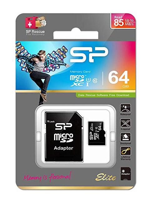 SILICON POWER κάρτα μνήμης MicroSDXC USH-1, 64GB, Class 10