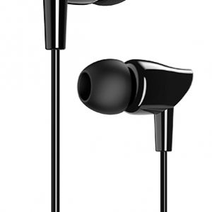 USAMS earphones με μικρόφωνο EP-37, 10mm, 1.2m, μαύρα