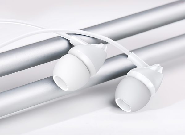 USAMS earphones με μικρόφωνο EP-39, 10mm, 1.2m, λευκά 1