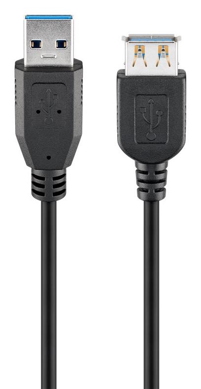 GOOBAY καλώδιο USB 3.0 σε USB (F) 95726, copper, 5m, μαύρο