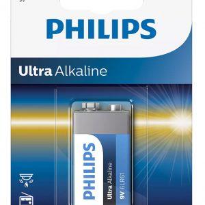 PHILIPS Ultra αλκαλική μπαταρία 6LR61E1B10, 6LR61 9V, 1τμχ