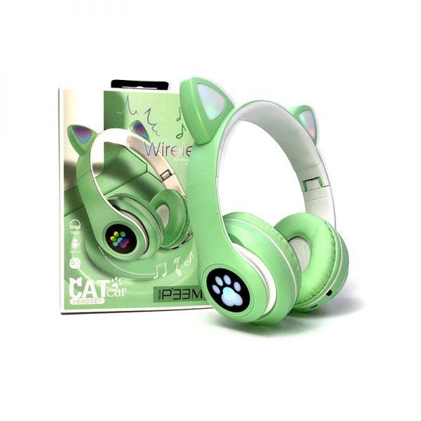 Ασύρματα ακουστικά – Cat Headphones – P33M – 700335 – Green