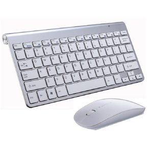 Ασύρματο Σετ Πληκτρολόγιο – Ποντίκι 908 (ασημί)