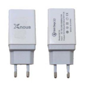 Φορτιστής Xnous QC10 Quick Charger 3.0 USB 3 18W (άσπρο)