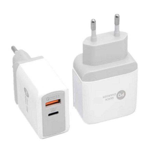 Φορτιστής Xnous QC20 Quick Charger 3.0 USB 3 & PD 20W