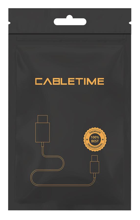 CABLETIME καλώδιο AUX USB Type-C σε 3.5mm C160, 1m, μαύρο 2