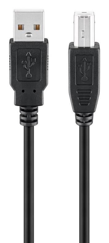 GOOBAY καλώδιο USB 2.0 σε USB Type B 93596, 1.8m, μαύρο