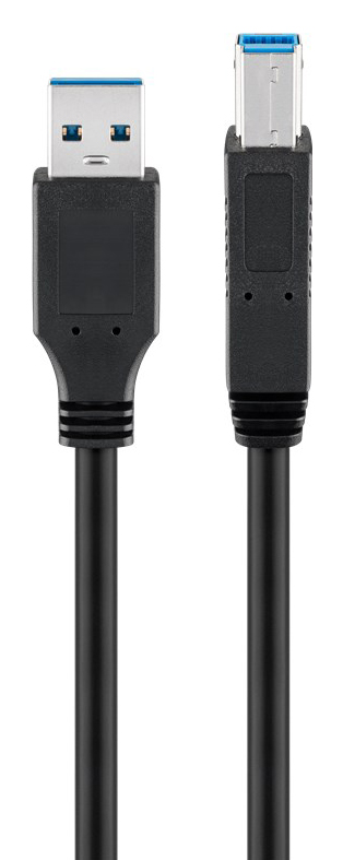 GOOBAY καλώδιο USB 3.0 SuperSpeed σε USB Type B 93654, 3m, μαύρο