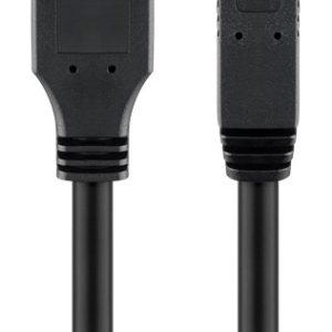 GOOBAY καλώδιο USB 3.0 SuperSpeed σε USB Type B 96119, 5m, μαύρο