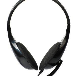POWERTECH Headphones με μικρόφωνο PT-734 105dB, 40mm, 3.5mm, 1.8m, μαύρο 1